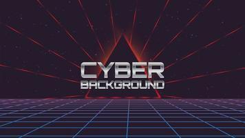 Fundo de tecnologia retrô Cyber vetor