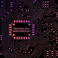 Fundo de néon de tecnologia
