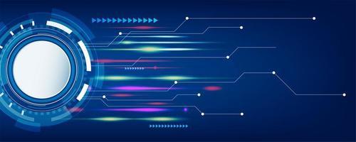 tecnologia azul escura e abstrato de alta tecnologia vetor