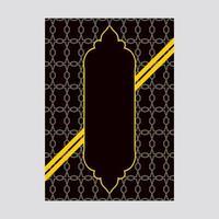 Design de capa de luxo preto e amarelo com padrão