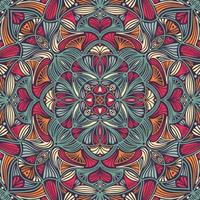 Mandala étnica floral ornamental colorida