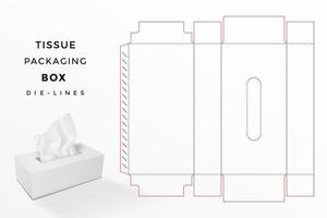 caixa de tecido dieline vetor