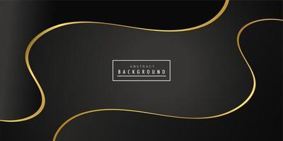 Design de fundo preto onda criativa dourada