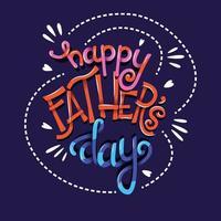 Feliz dia dos pais, mão lettering tipografia design de cartaz moderno