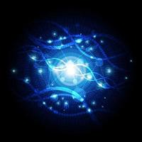 fundo de tecnologia científica vetor