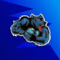 Uma ilustração de um homem lobo lobisomem vetor