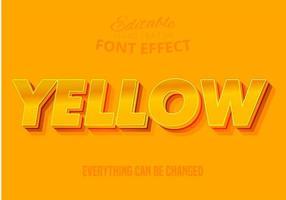 Texto em amarelo, efeito de texto editável vetor