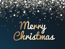 Fundo escuro de Natal com luzes brilhantes vetor