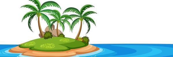 Ilha isolada no fundo branco vetor