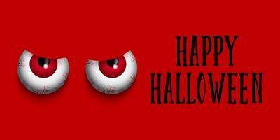 Olhos maus Dia das Bruxas feliz vetor