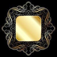 Fundo elegante moldura de ouro vetor