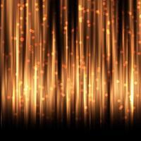 Cortina dourada com luzes de bokeh vetor