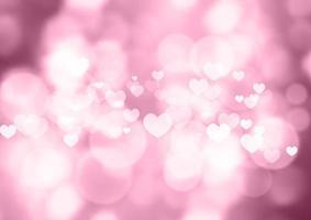 bokeh rosa corações fundo dia dos namorados 1212 vetor