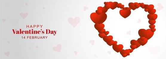 Banner do dia dos namorados com coração feito de corações
