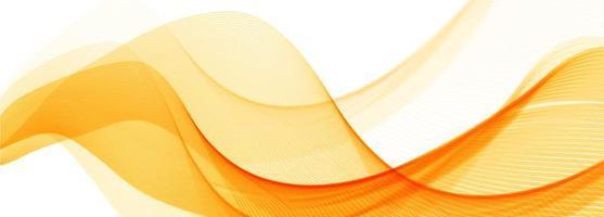 Fundo de banner abstrato laranja elegante onda
