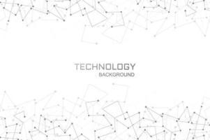 Fundo de conexão de polígono de tecnologia digital vetor