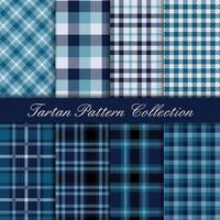 Coleção elegante padrão tartan azul royal vetor