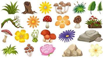 Grande grupo de tema de objetos isolados - natureza vetor