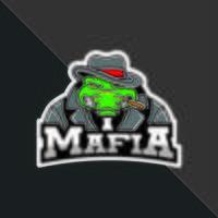 Mascote da máfia de crocodilo vetor
