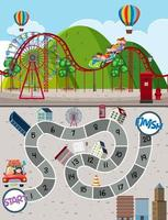Modelo de jogo de labirinto de parque de diversões vetor