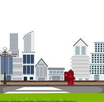 Uma cena urbana da cidade vetor