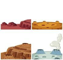 Conjunto de superfície de Marte vetor