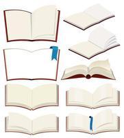 Conjunto de livro em branco vetor