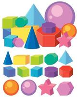 Conjunto de formas de geometria matemática vetor