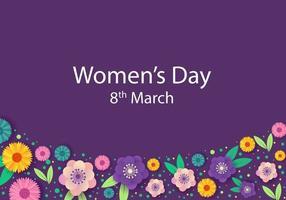 Design floral do dia mínimo da mulher vetor