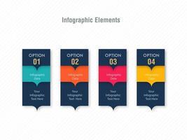 Design de modelo de cartão de opção infográfico vetor