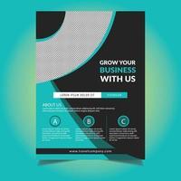 Modelo de folheto - azul design circular negócios vetor