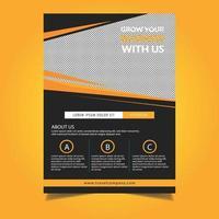 Modelo de capa ou panfleto de Design de ângulo laranja vetor