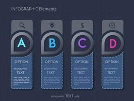 Design de modelo de carta de opção infográfico vetor