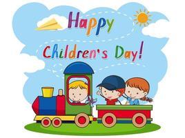 Uma mensagem feliz para o dia das crianças vetor