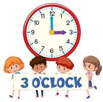 3 horas e estudantes
