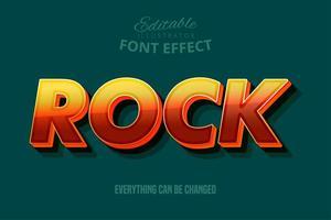 Texto rock, estilo de texto editável vetor