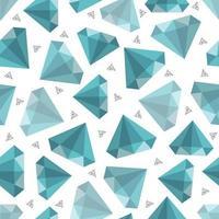 padrão de moda de jóias com diamantes sem costura vetor