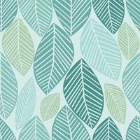 folhas verdes sem costura de fundo vetor