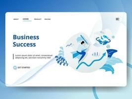 Sucesso nos negócios da página de destino