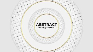 Fundo circular abstrato moderno com detalhes dourados vetor