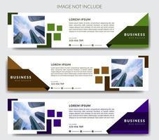 Modelo de banner da Web