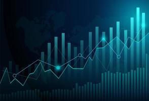 Gráfico de gráfico de vara de vela de negócios de investimento no mercado de ações