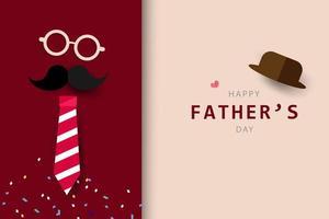 Feliz dia dos pais cartão de saudação e banner vetor