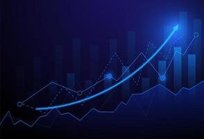 Gráfico de gráfico de vara de vela de negócios do mercado de ações vetor