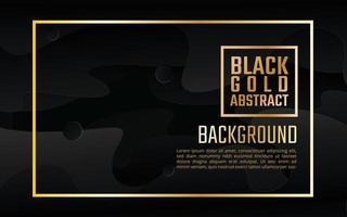 Fundo de forma arredondada elegante ouro preto vetor