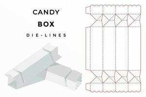caixa de doces cortada vetor