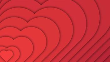 Amor fundo geométrico com formas de corte de papel