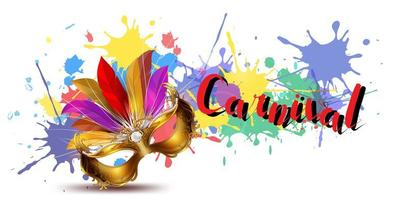 Fundo colorido de carnaval com salpicos de tinta vetor