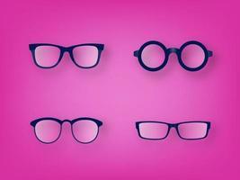 Conjunto de ícones de vetor de vidro de olho