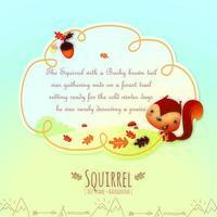 Quadro de texto e fundo de livro de histórias fantásticas para crianças vetor